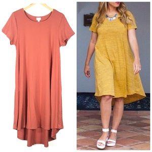 LulaRoe Carly Hi Low Dress in Ribbed Knit Sz Med